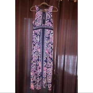 I.N.C  Maxi Dress from Macy's. White Blue & Purplw